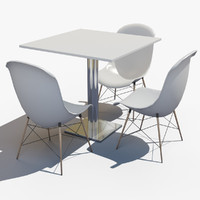 table chair 3d dxf
