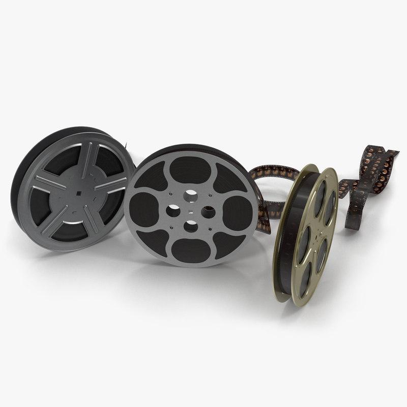 video film reels 3d max