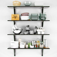 decorative shelves dishes 3d model