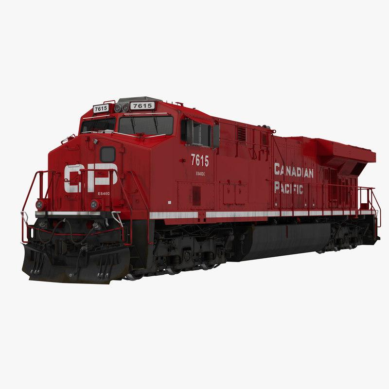 locomotive es40dc canadian pacific 3d model