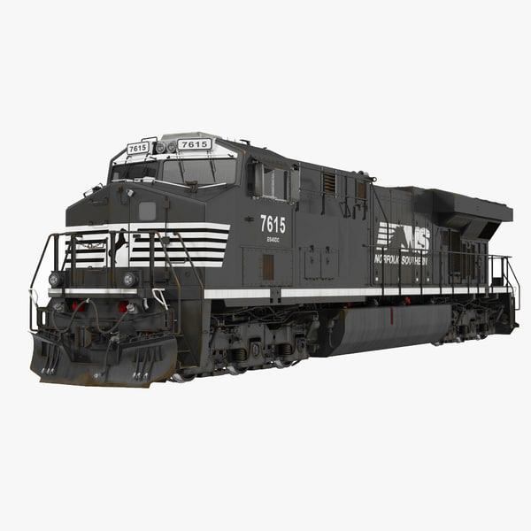 locomotive es40dc norfolk southern 3d 3ds