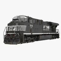 locomotive es40dc norfolk southern 3d 3ds