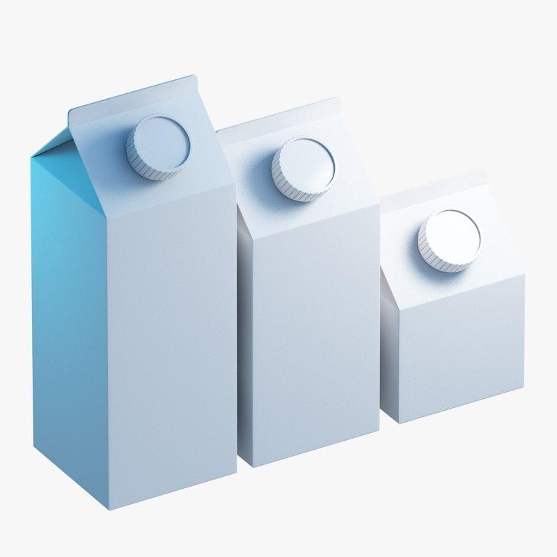 3d 3ds milk cartons