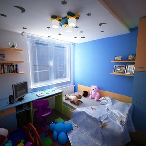 apartment interior kidroom 3d model