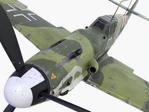 3d bf-109 german fighter 1 model