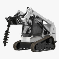 Compact Tracked Loader Bobcat with Auger
