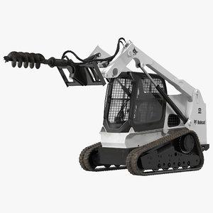 3d model compact tracked loader bobcat