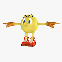 3d pac-man character model