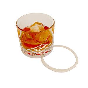 3d glass wisky