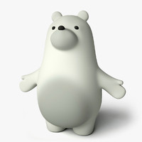 3d toon ice bear model
