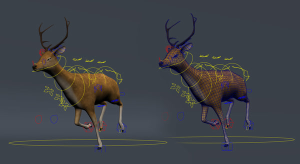 3d deer rig realistic