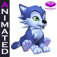 3d model cartoon talking cat