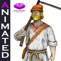 villager peasant 3d fbx