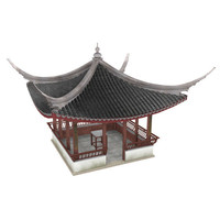 chinese pavilion 3d model
