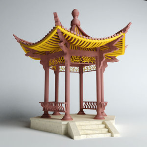 3d chinese pavilion