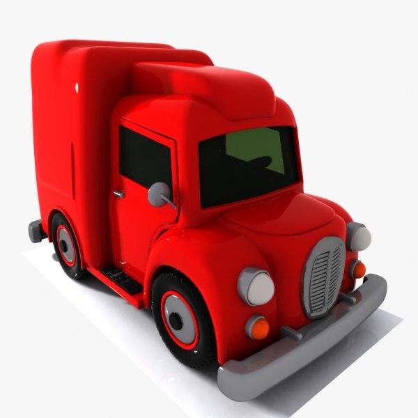 cartoon truck toon 3d model