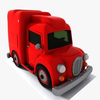 cartoon truck toon 3d model