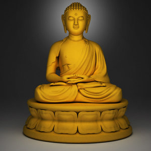 sculpture buddha 3d model