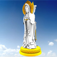 buddhist guanyin 3d model
