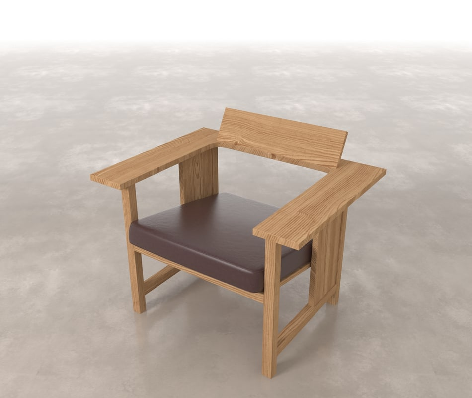 bench clerici 3d max