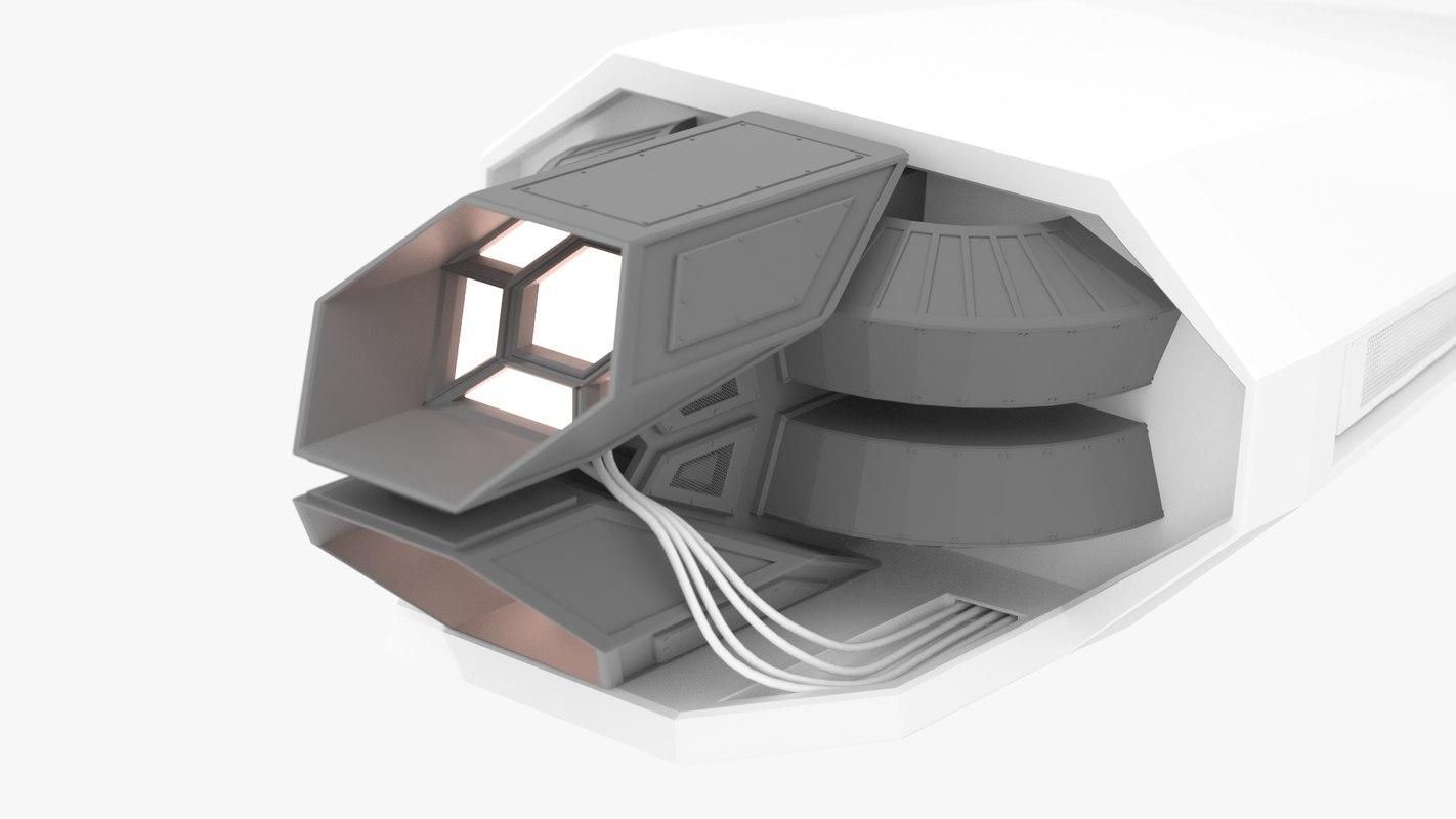 3d model of spaceship engine