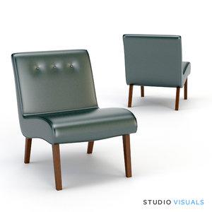3d safavieh khloe lounge model