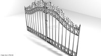 3d steel gate door model