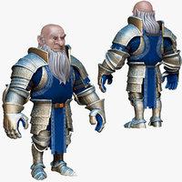 dwarf knight armor obj