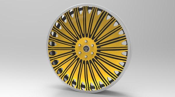 dub wheels 3d model