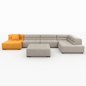 3d model sofas modeled