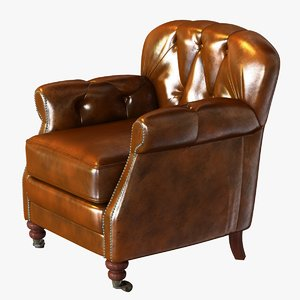 chair club vintage cigar 3d obj