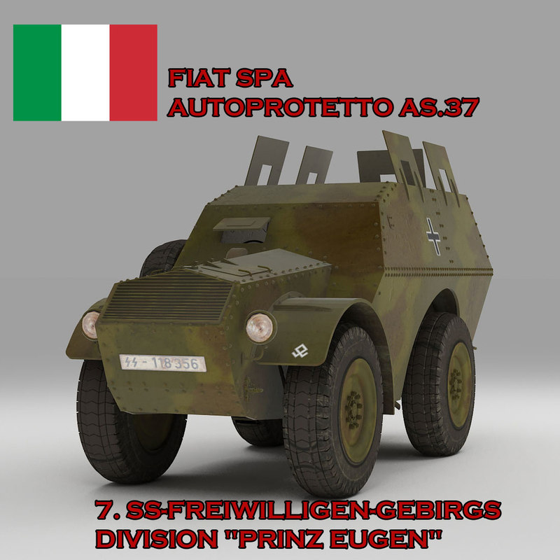 3d fiat spa 37 autoprotetto model