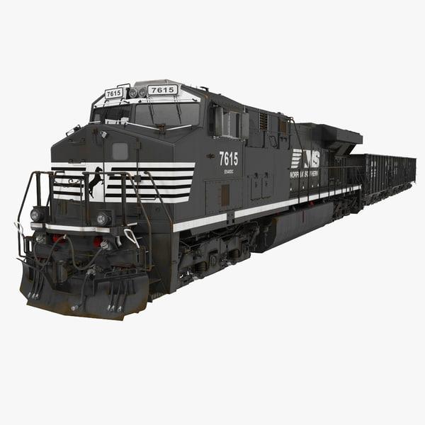 3d train es40dc norfolk southern
