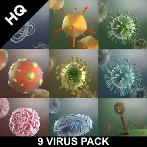 virus pack 3d max