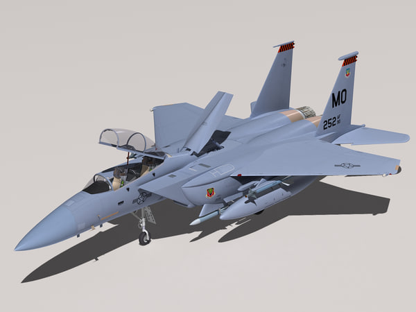 3d f-15e strike eagle cockpit model