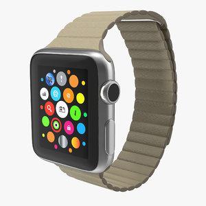 apple watch 38mm magnetic 3d model