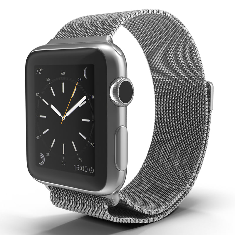 apple watch 38mm milanese 3d max