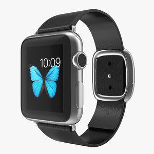 apple watch 38mm steel 3d model