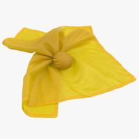 football penalty flag yellow 3d c4d