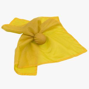 football penalty flag yellow 3d c4d