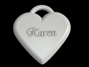 heart necklace 3d model