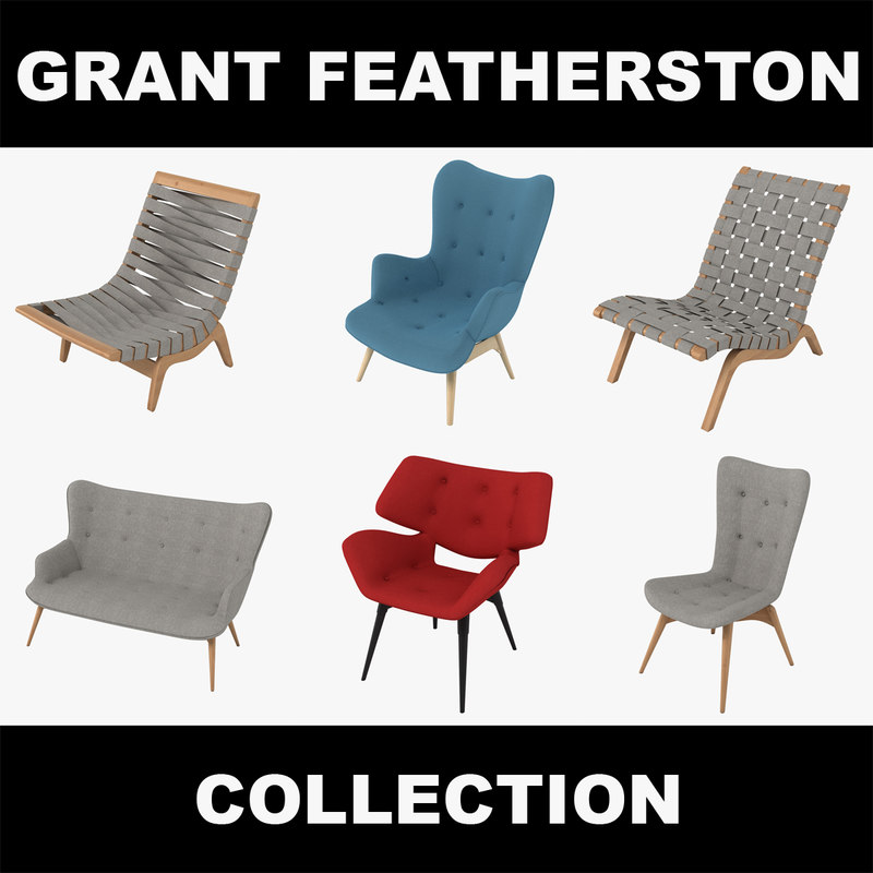 3d model grant featherston chairs