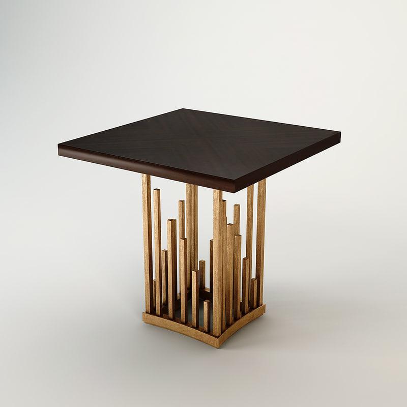 3d model christopher guy table vegas