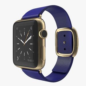 apple watch 38mm gold 3d max