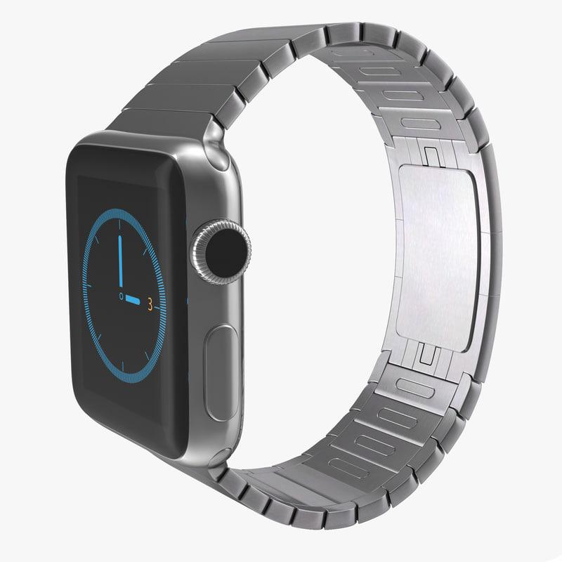 apple watch 38mm link 3d max