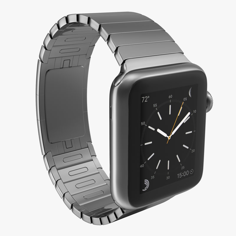 apple watch 38mm link 3d obj