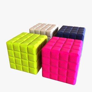pouf design 3d max