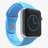 Apple Watch 38mm Fluoroelastomer Blue Sport Band 2