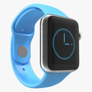 3d apple watch 38mm fluoroelastomer