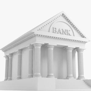 3dsmax bank building structure symbol